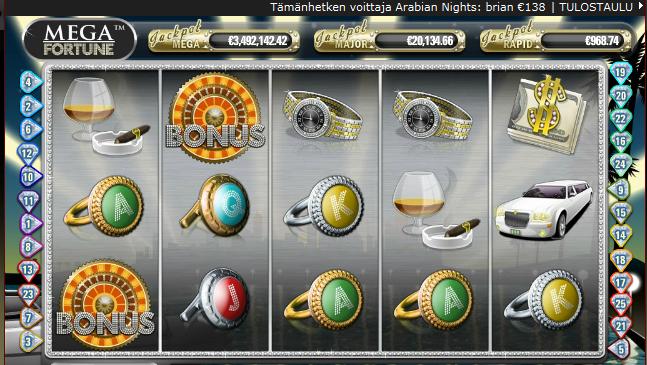 kolikkopelit - jackpot mega fortune